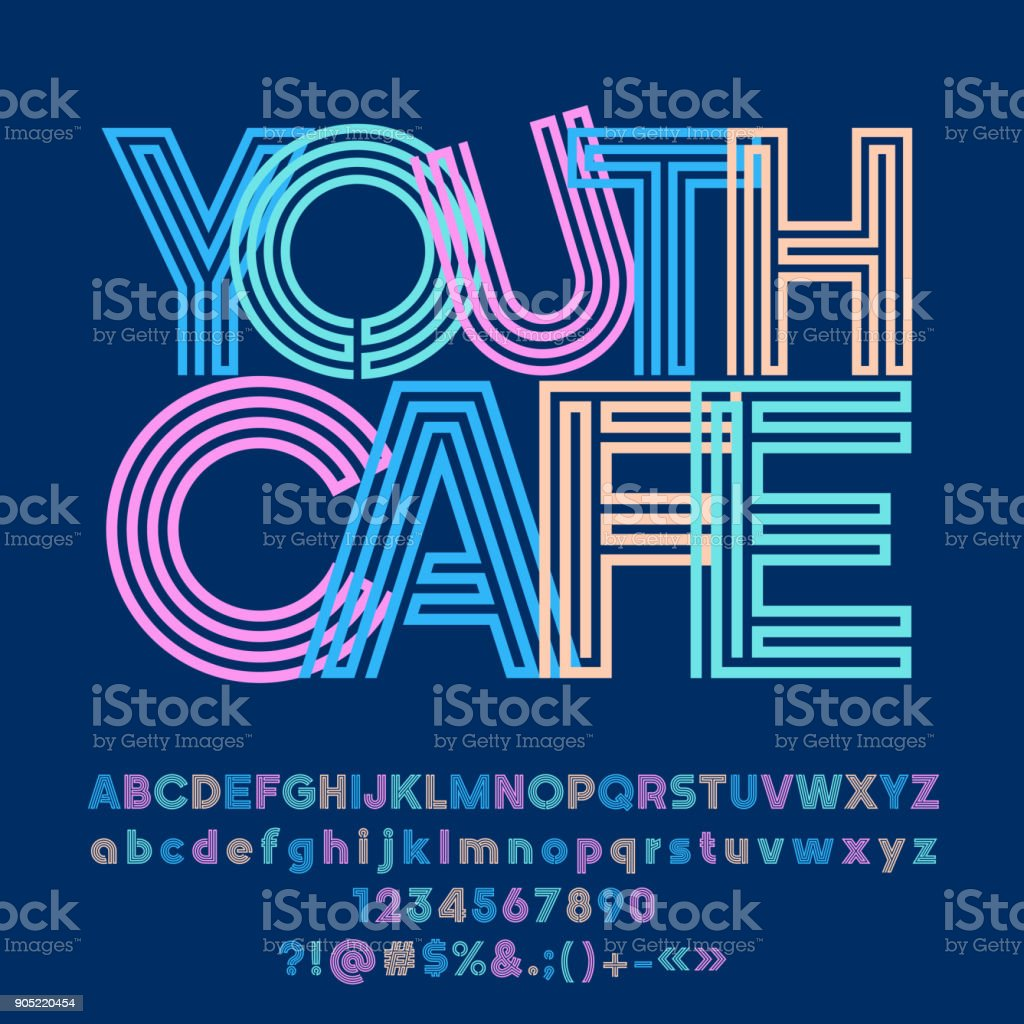 Vector logo abstrait brillante jeunesse Cafe - Illustration vectorielle