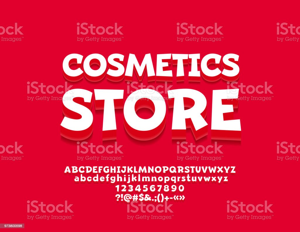 Vector Bright Banner With Text Cosmetic Store With Beautiful