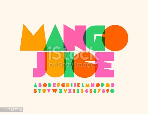 Colorful Uppercase Letters and Numbers
