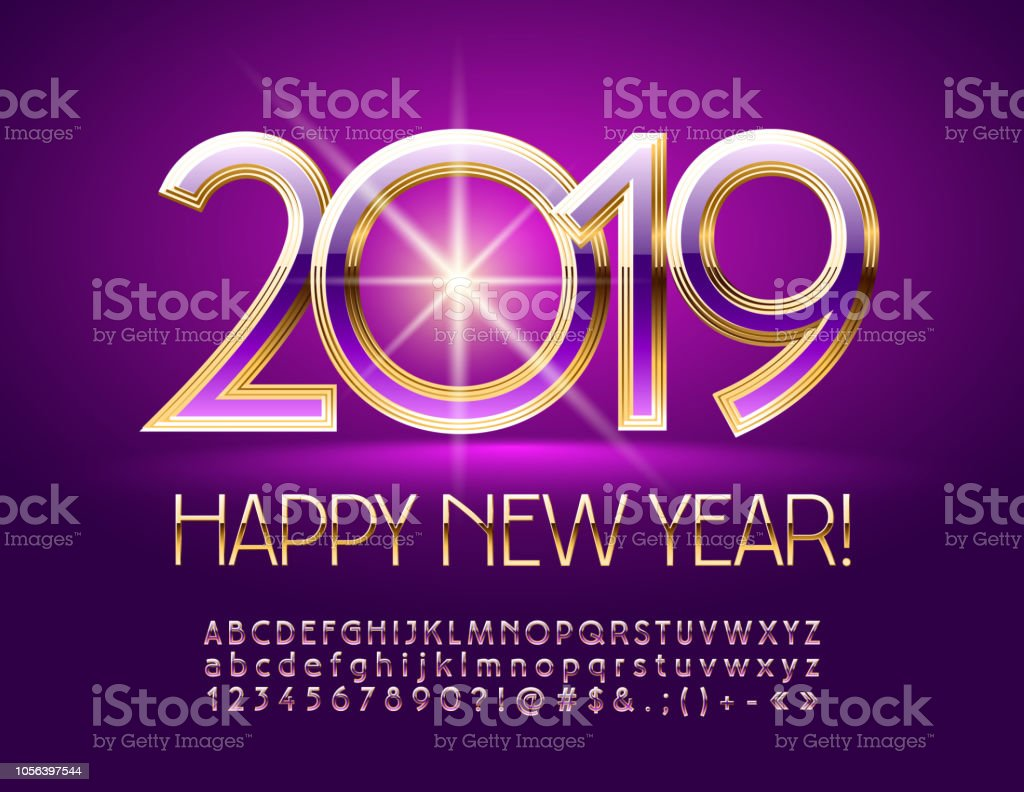 usa alphabet alphabetical order banner sign banquet vector bright greeting card happy new year