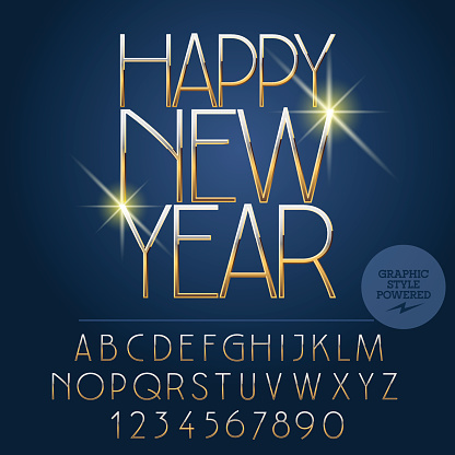 Vector bright Happy New Year 2017 greeting card