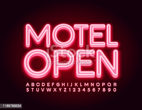 Red neon Font