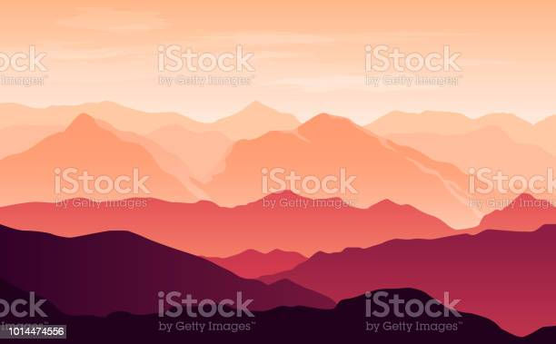 Vector bright silhouettes of orange and purple mountains in the with vector id1014474556?b=1&k=6&m=1014474556&s=612x612&h=j1waszfhfuj r8dlgpekdtgkymvbwydxtdz1haortj0=