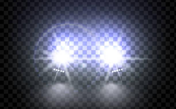 illustrations, cliparts, dessins animés et icônes de lumières lumineuses train de vecteur pour votre conception. - voiture nuit