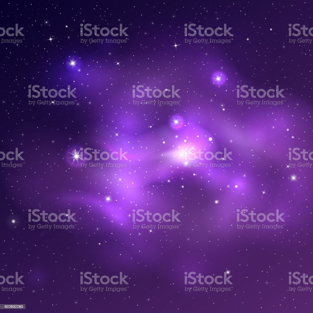Vector bright universe background with purple and blue nebulas and vector bright universe background with purple and blue nebulas and shiny stars royalty free stock altavistaventures Choice Image