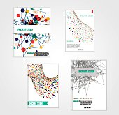 Vector brochure cover design templates