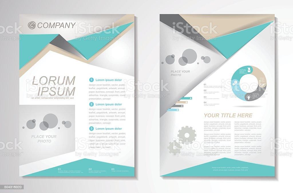 Vector Brochure Flyer design Layout template, size A4, Front pag vector art illustration