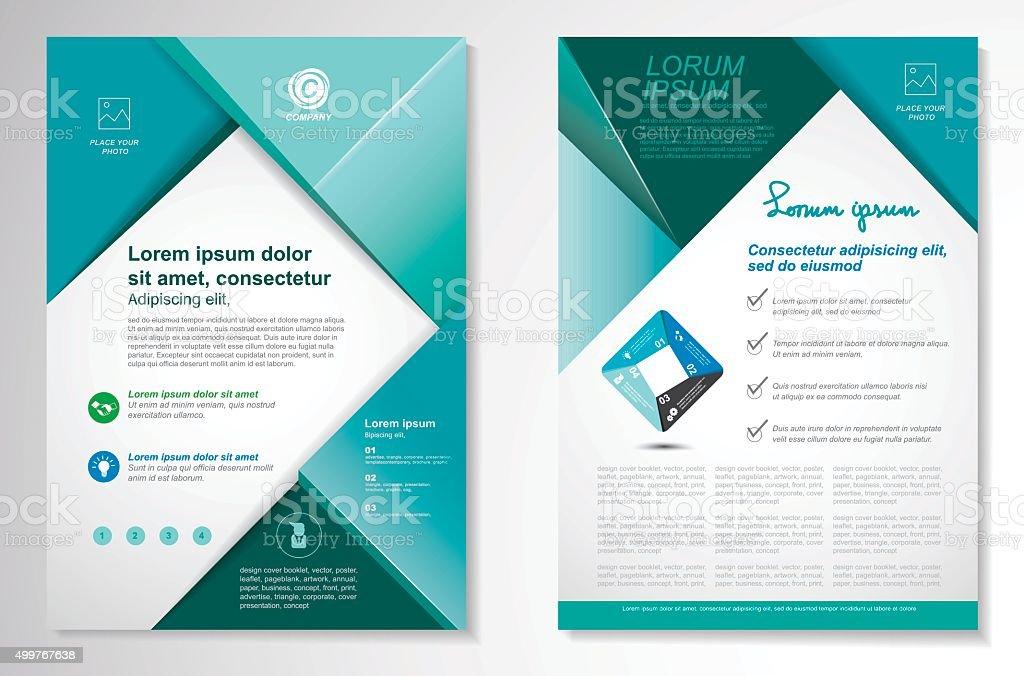 Vector Brochure Flyer design Layout template, size A4, vector art illustration