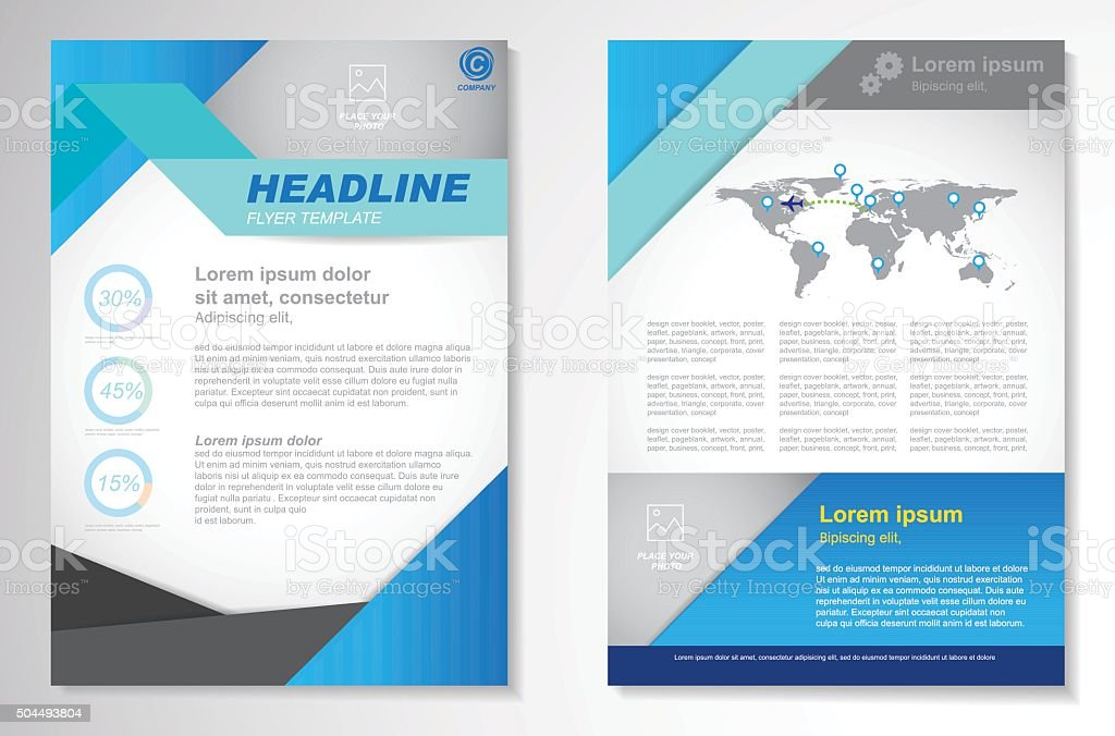Vector Brochure Flyer design Layout template, size A4, royalty-free stock vector art