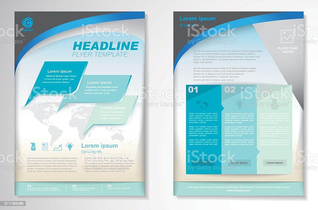 Vektorbroschüre Flyer Designlayoutvorlage Größe A4 Stock Vektor Art