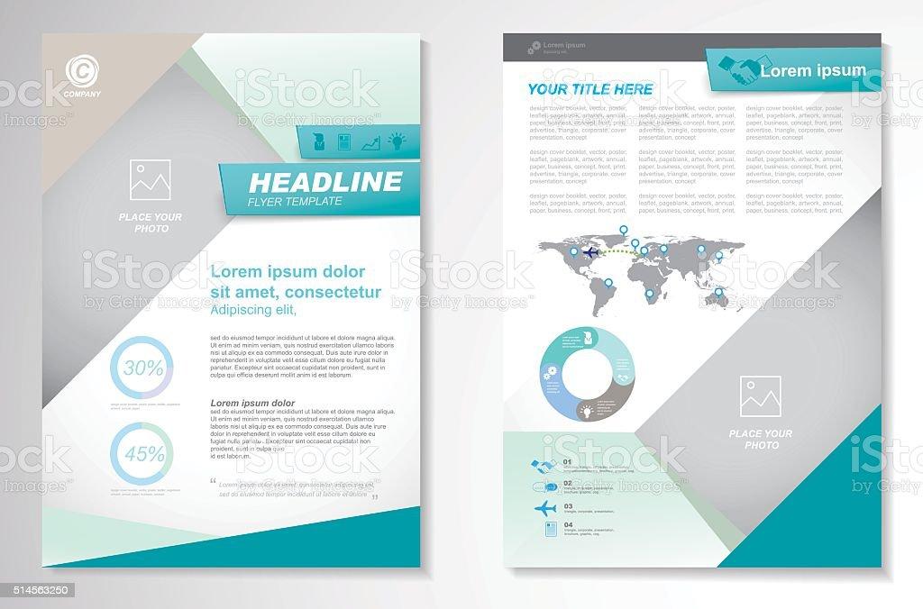 Vector Brochure Flyer design Layout template, size A4 vector art illustration