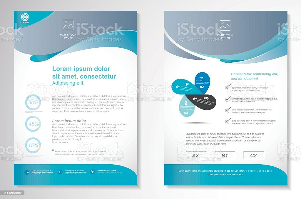 Vector Brochure Flyer Design Layout Template Size A4 Stock ... Листовка Дизайн