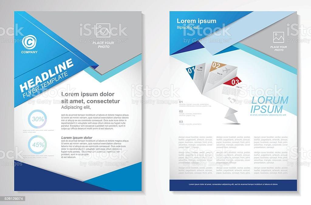 Vektorbroschüre Flyer Designlayoutvorlage Größe A4 Vektor ...