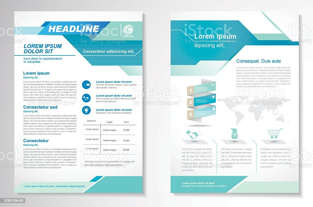 Vector Brochure Flyer design Layout template, size A4 vector art illustration