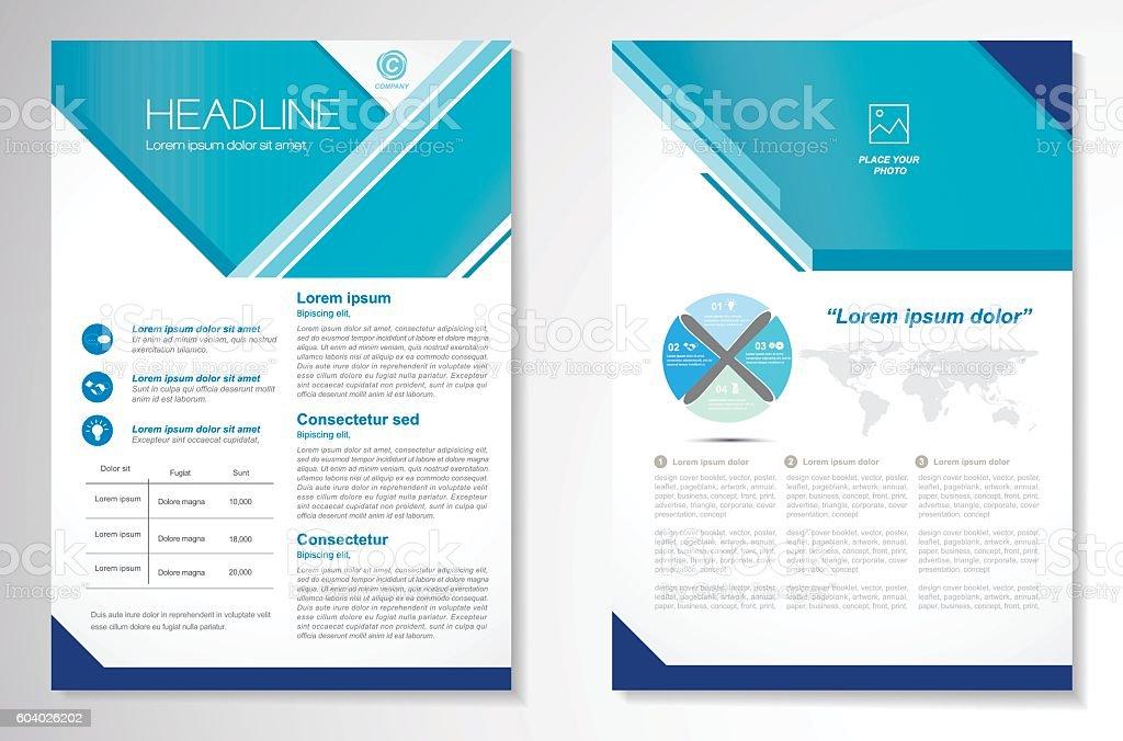 マイレージプログラムベクトルのパンフレットのレイアウトデザイン
