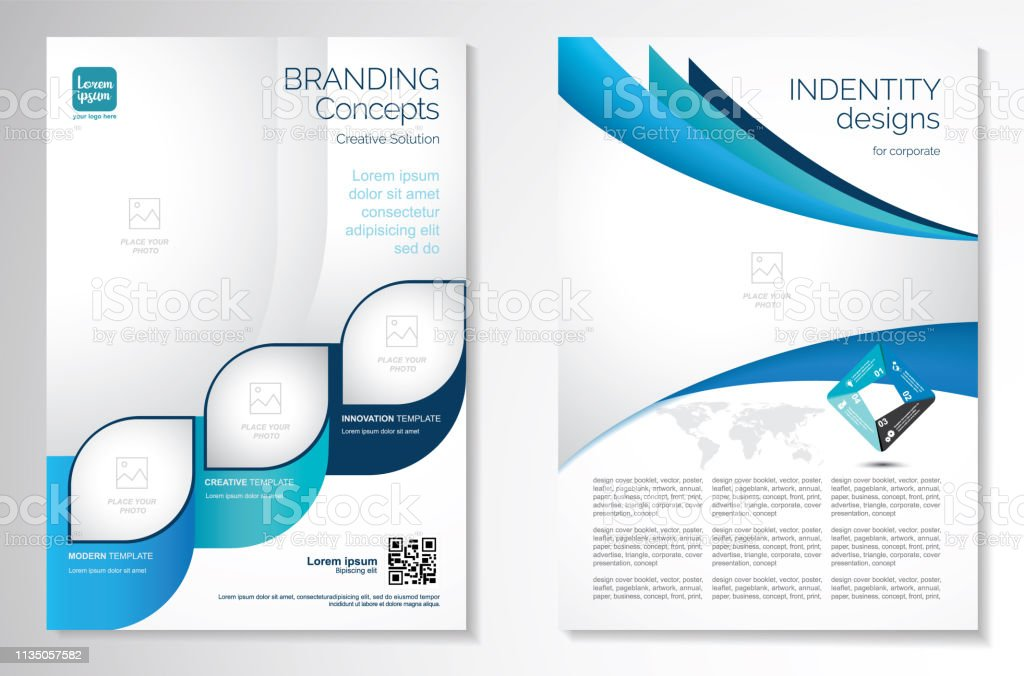 Vector Brochure Flyer Design Layout Template Stock