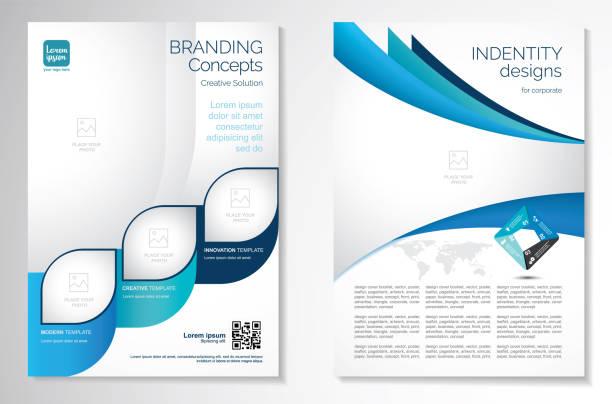 vektör broşürü broşür tasarım düzeni şablonu - yıllık olay stock illustrations