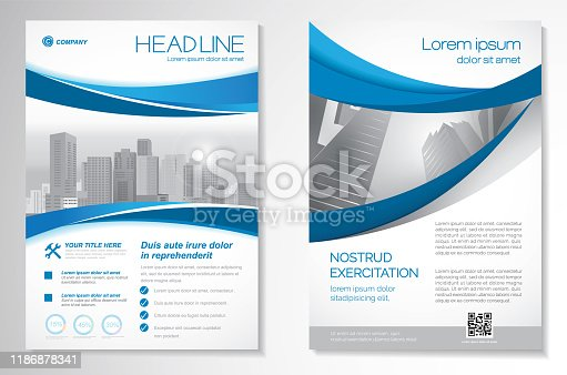 istock Vector Brochure Flyer design Layout template 1186878341