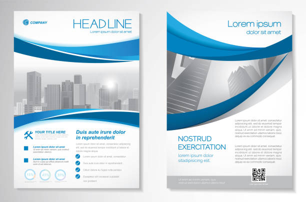 Vector Brochure Flyer design Layout template size A4, Front page and back page, infographics. Easy to use and edit. brochure templates stock illustrations