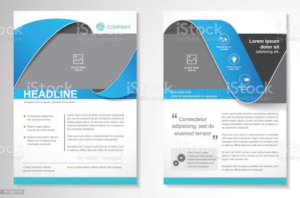 Design de brochura Flyer vetor modelo de Layout - ilustração de arte em vetor