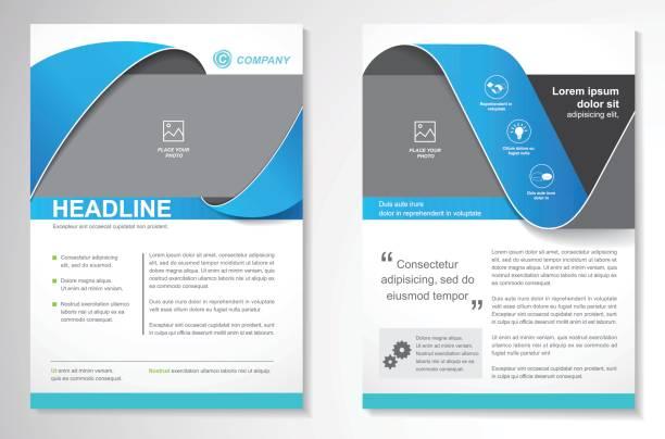 vektor-broschüre-flyer-design layout-vorlage - faltblatt stock-grafiken, -clipart, -cartoons und -symbole