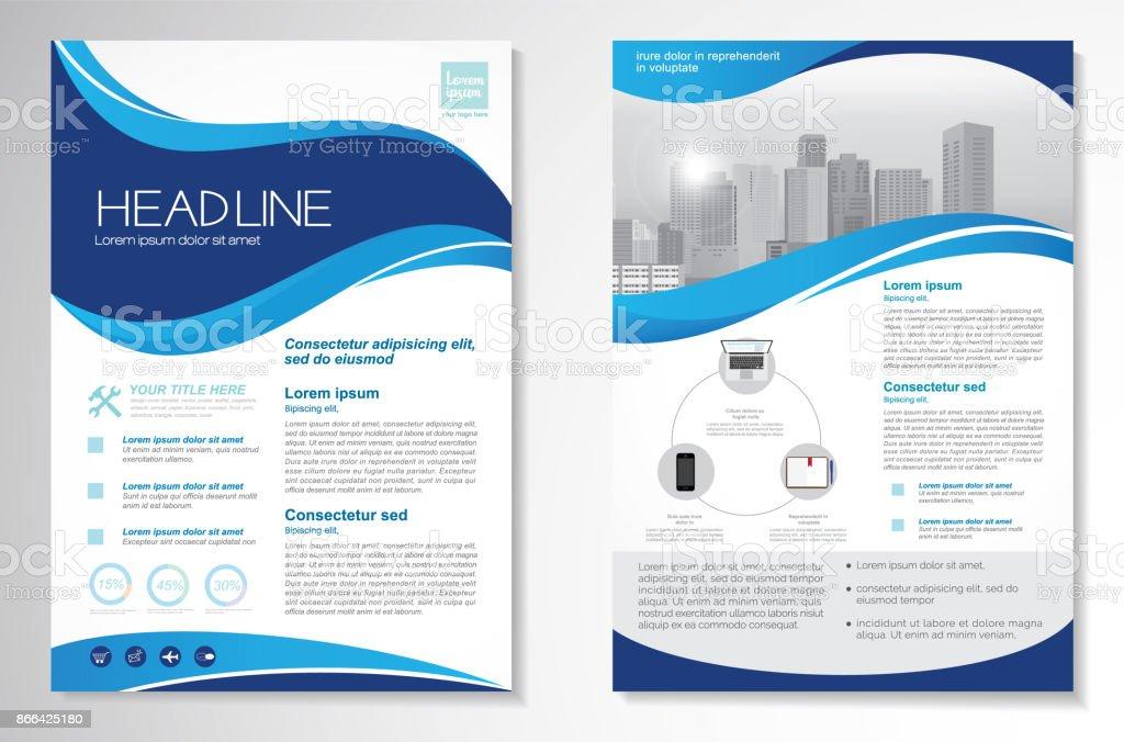 Vector Brochure Flyer design Layout template векторная иллюстрация