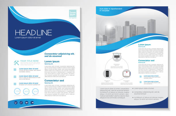 vector brochure flyer design layout template - flyers templates stock illustrations