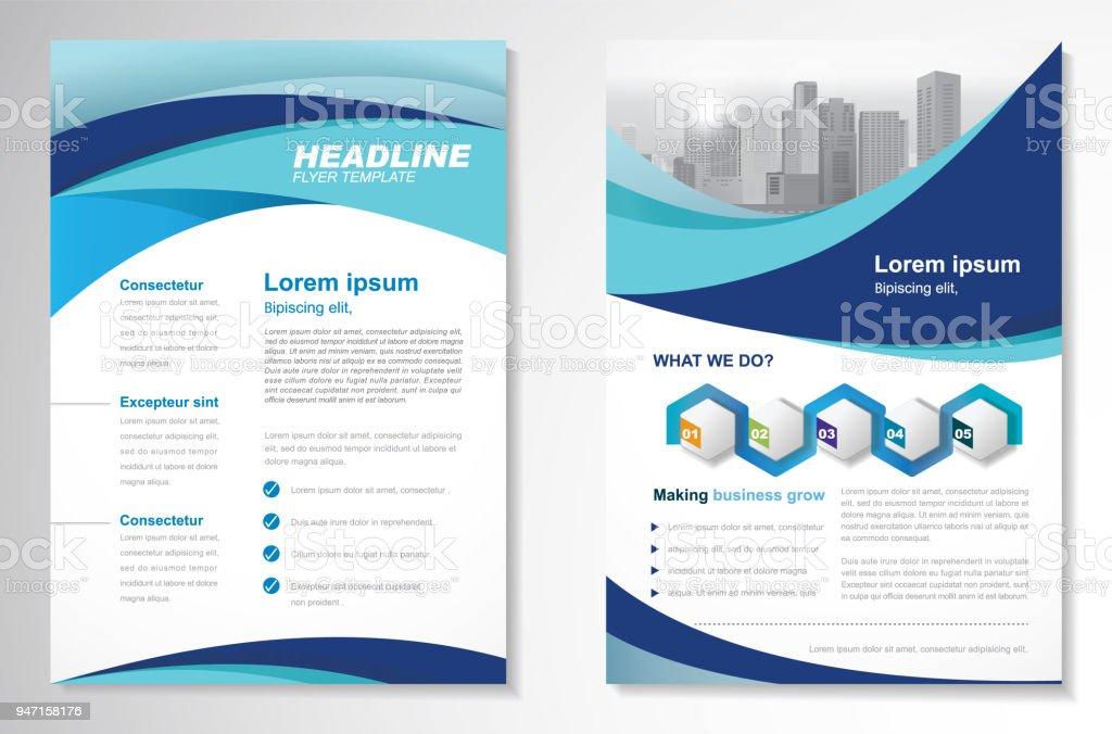 Vector Brochure Flyer Design Layout Template Stock Vector Art More