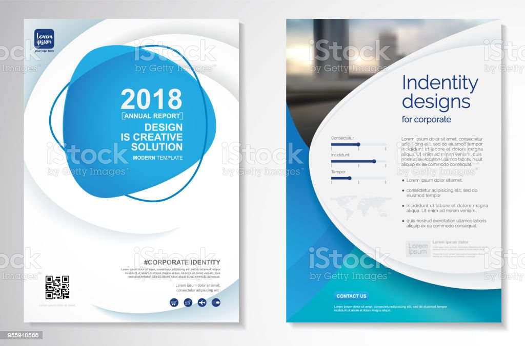 Vector Brochure Flyer Design Layout Template Stock Illustration