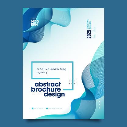 Vector Brochure Flyer design Layout Waves template