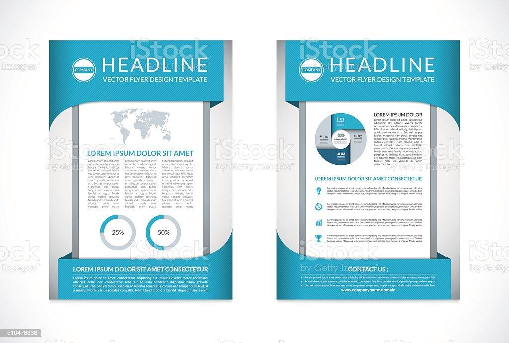 Vector Brochure Flyer Design Template In A4 Size Stock Vector Art