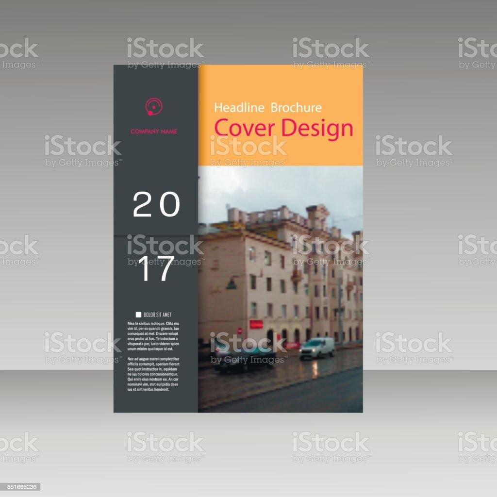 Vektor Broschüre Flyer Flyer Vorlage Leeres Layout Mit Businesscover ...