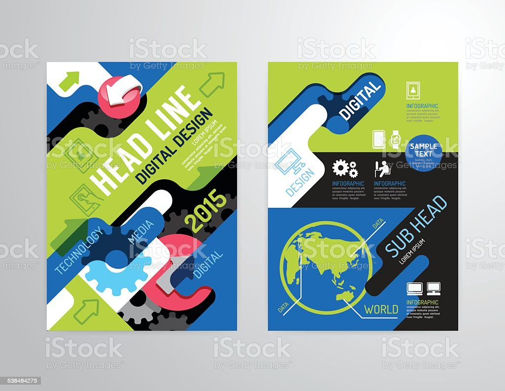 Vector brochure, flyer, magazine cover booklet poster design. vector art illustration