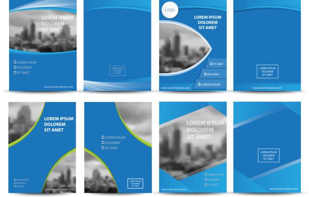 Vector brochure, flyer, magazine cover Vector brochure, flyer, magazine cover & poster template. nu stock illustrations