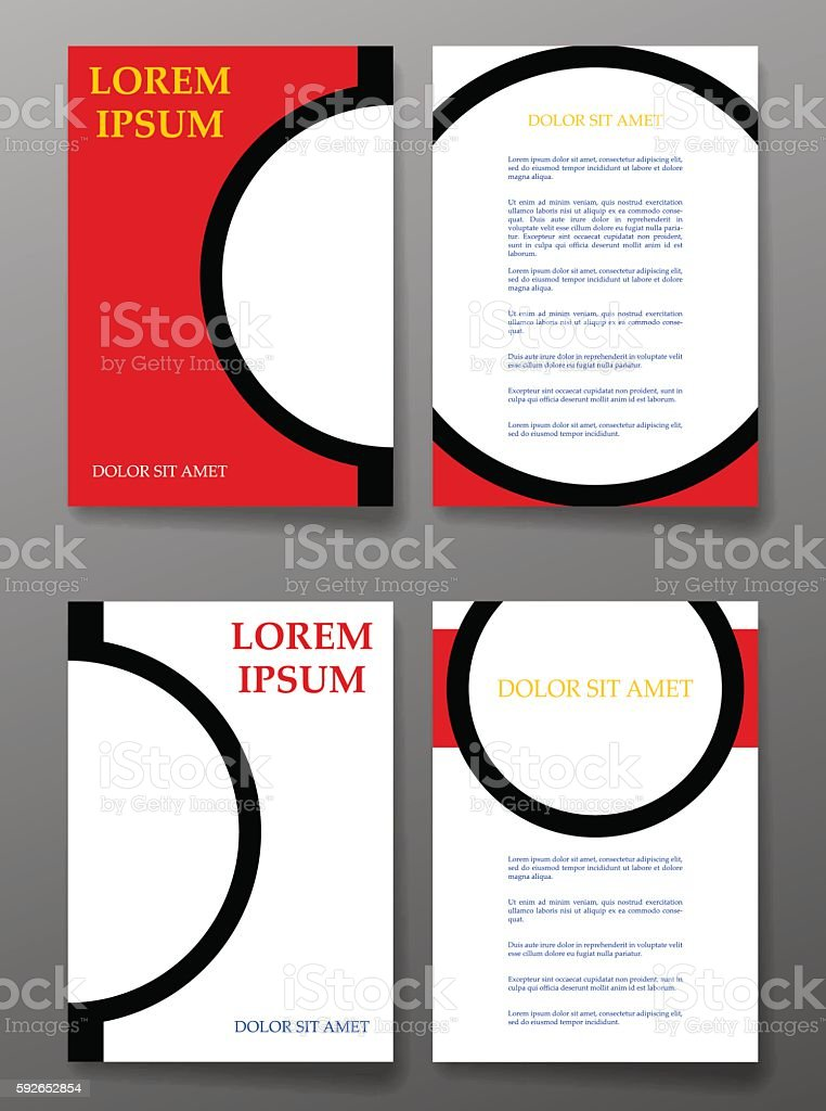 Vector brochure pages templates with circle. vector art illustration