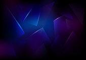 Vector Broken Glass Dark Purple and Blue Background