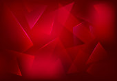 Vector Broken Glass Ruby Background. Red Decorative Banner. Explosion, Destruction Cracked Surface Illustration. Abstract 3d Bg for Night Party Posters, Banners or Advertisements.