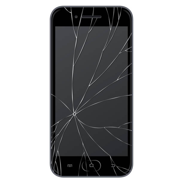 vector broken smart phone - crack stock illustrations, clip art, cartoons, & icons