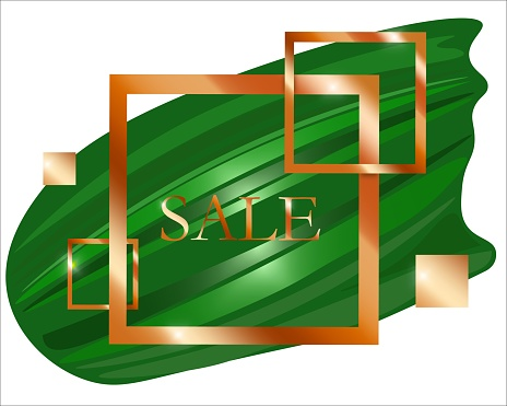 Vector bronze abstract frame for marketing offers