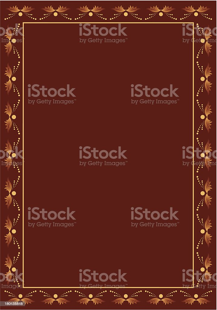 vector brown frame with beige decor royalty-free vector brown frame with beige decor stock vector art & more images of backgrounds