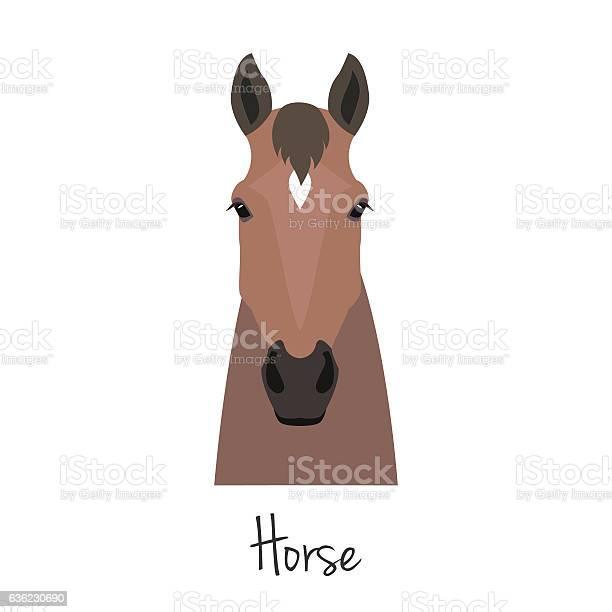 Vector brown horse head isolated flat cartoon style object vector id636230690?b=1&k=6&m=636230690&s=612x612&h=hnzqqii9rsjj h wnp6ecsy5c9cjpm4wf4zhd3gwqhm=