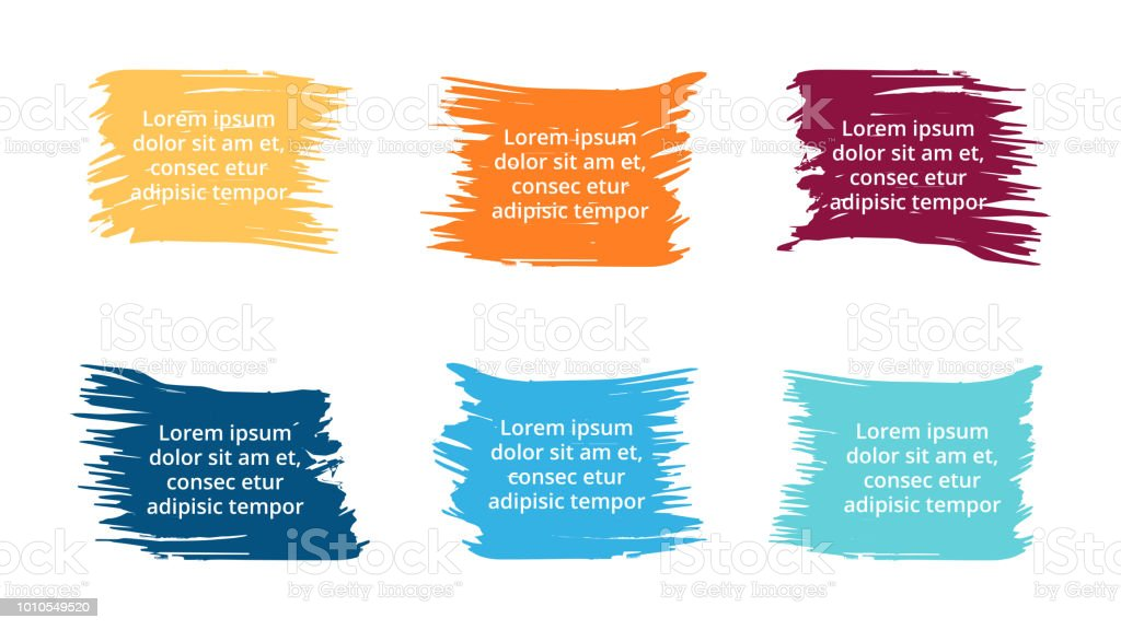 vector brush banners infographic labels and stickers watercolor
