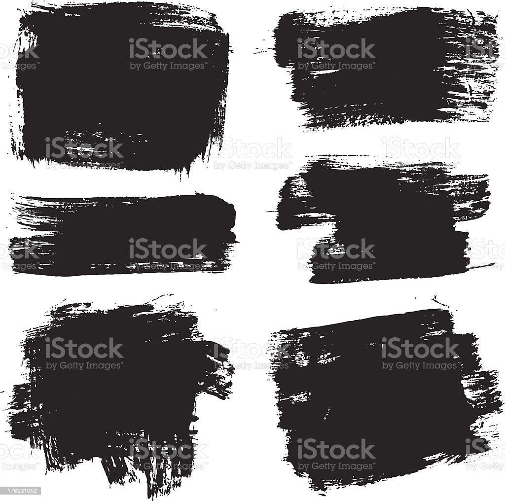 vector brush stroke elements vector art illustration