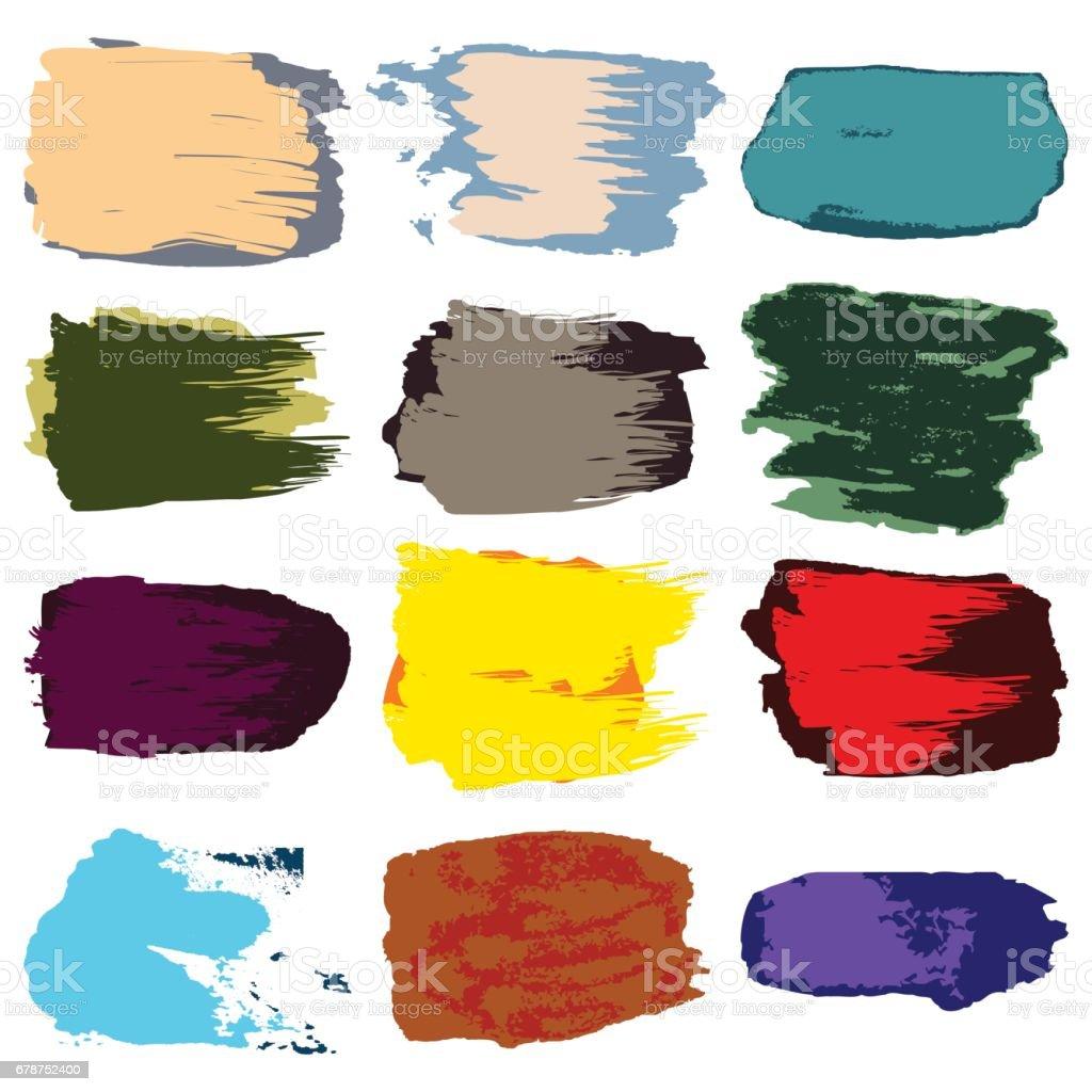 Vector coup de pinceau, taches de peinture acrylique, dessin abstrait à la main vector coup de pinceau taches de peinture acrylique dessin abstrait à la main – cliparts vectoriels et plus d'images de abstrait libre de droits