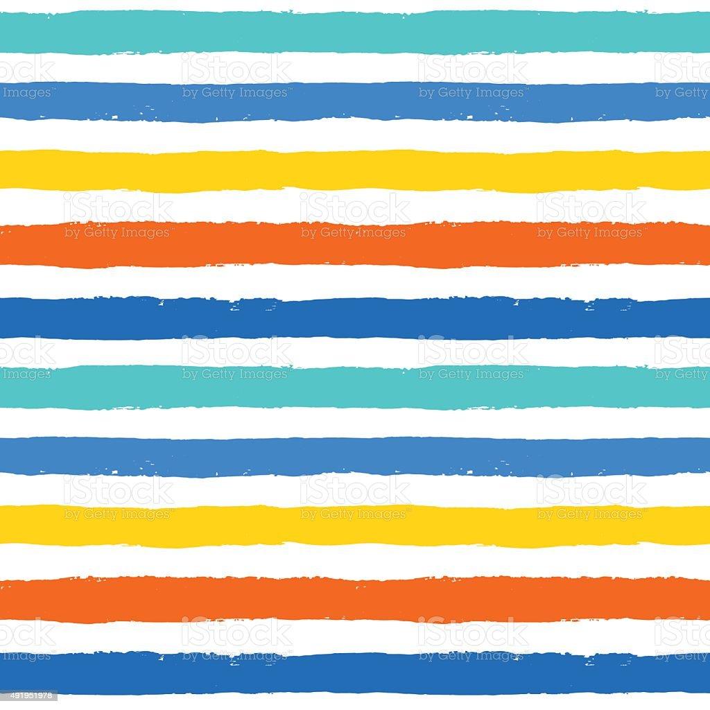 Vector Brush Strokes Colorful Seamless Pattern vector art illustration