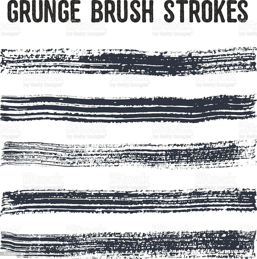 Vector brush strokes set 1. vector art illustration