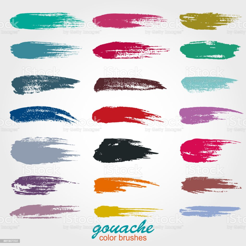 Vector brush strokes. Soft pastel colors. Grunge. Gouache and watercolors. vector art illustration