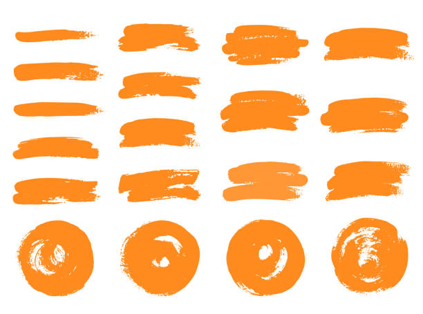 vector brushes. hand drawn circles. - głaskać stock illustrations