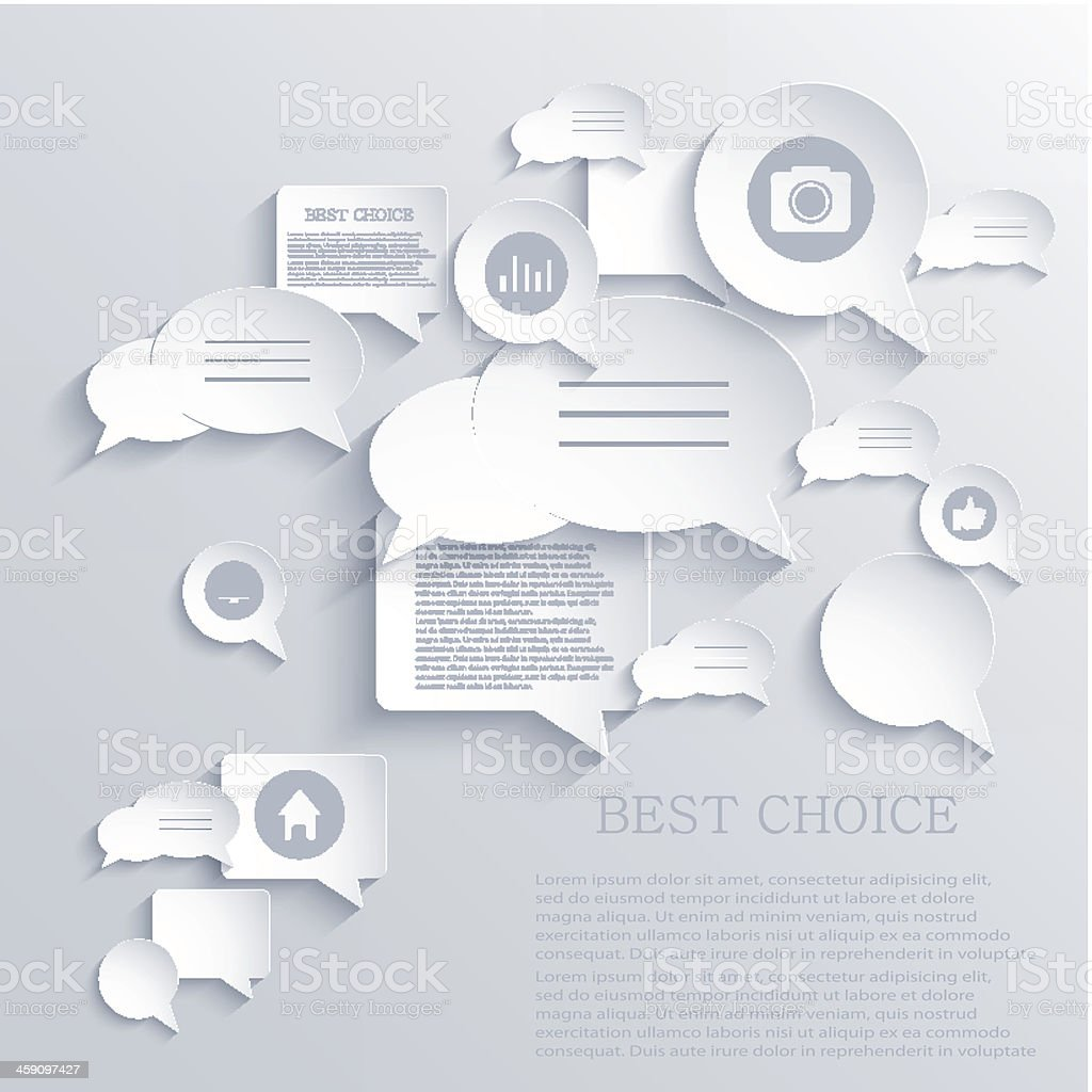 Vector bubble speech background. Eps10 vector art illustration