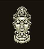Vector buddha head